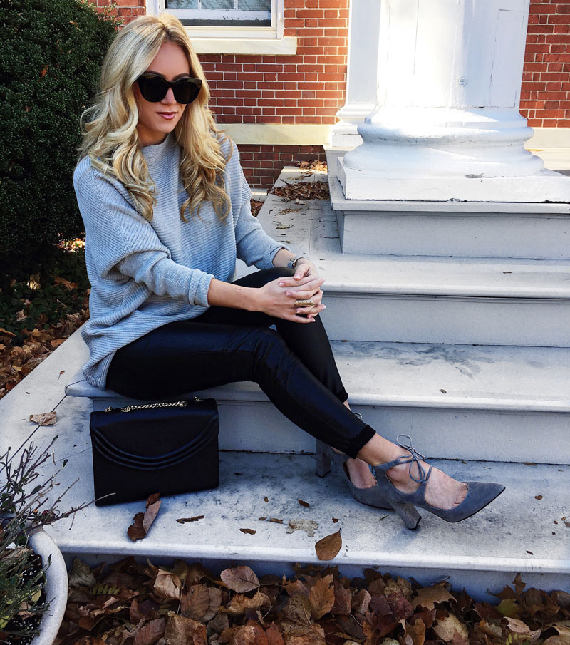 dolman-sleeve-knit-sweater-leather-leggings-ivanka-trump-lace-up-heels-cyber-monday-sales