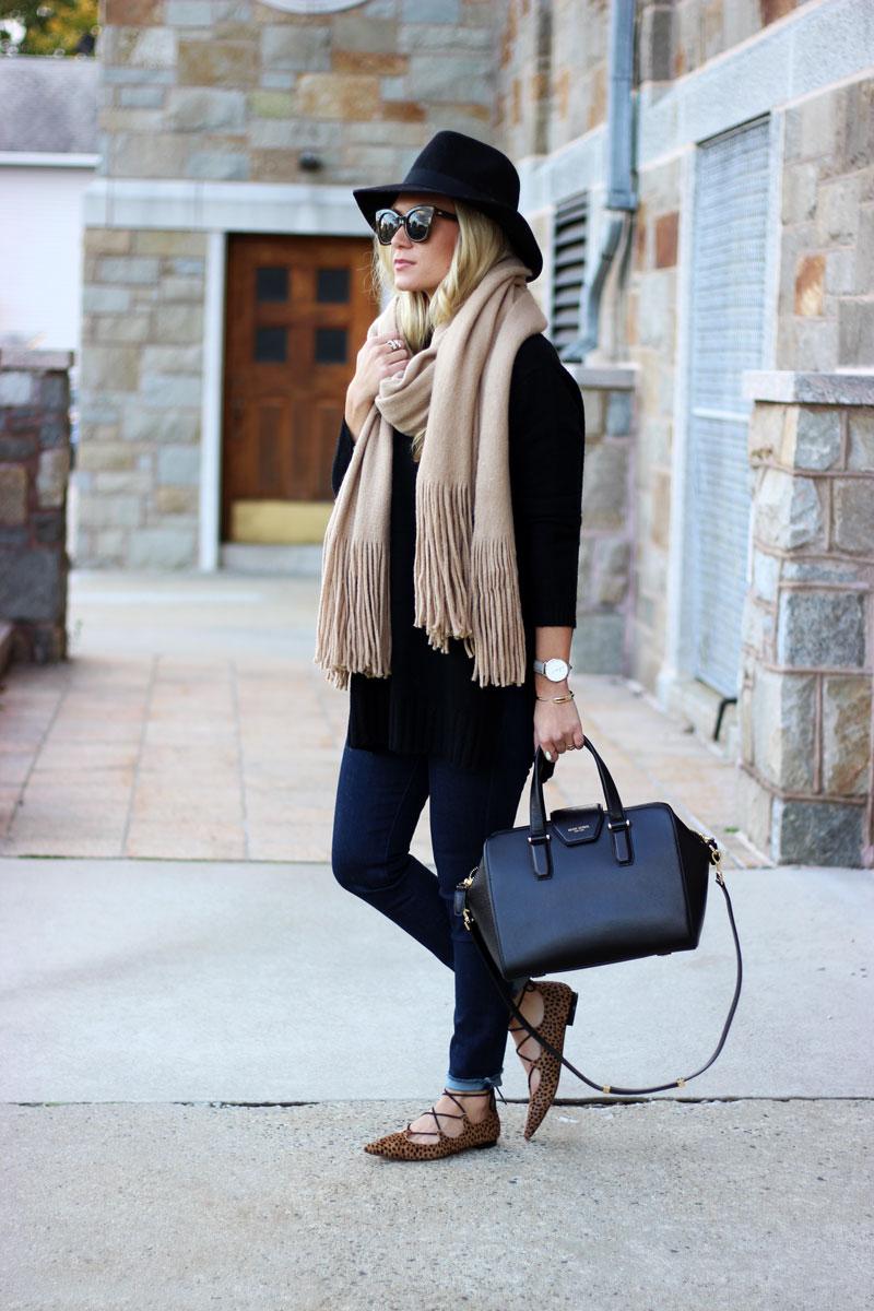 free-people-scarf-leopard-flats-black-felt-fedora-fall-accessories