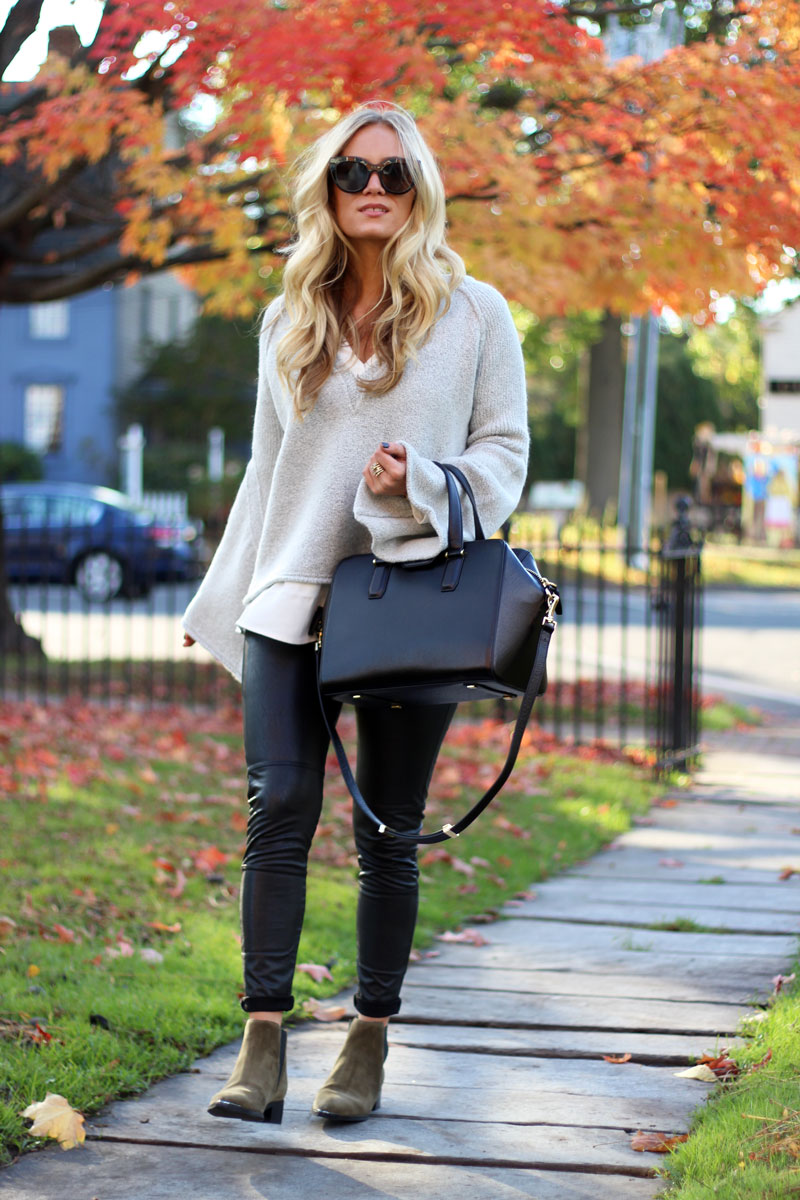 henri-bendel-satchel-free-people-cozy-bell-sleeve-sweater-leather-leggings