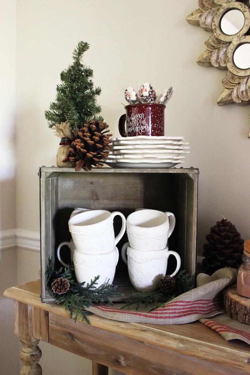 hot-chocolate-bar-setup-home-decor-holiday-entertaining-cozy-mugs-world-market-holiday-style-ideas