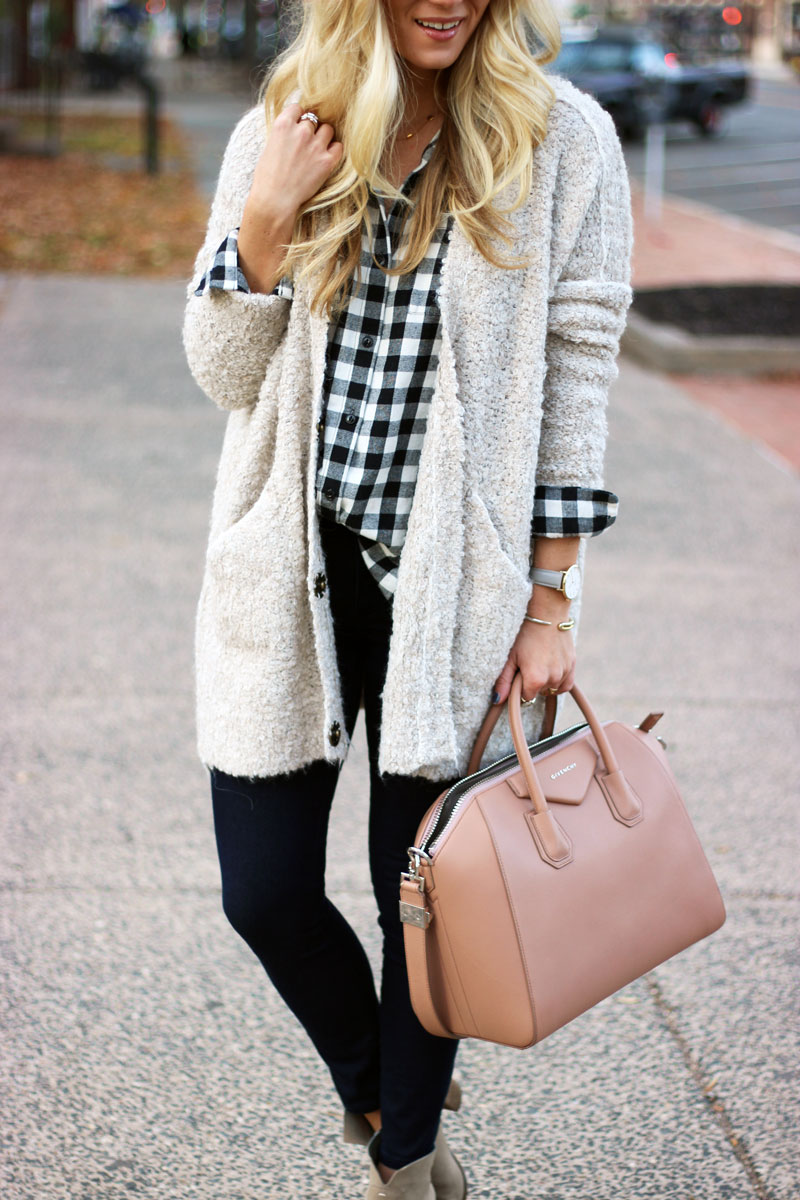 layering-plaid-with-cardigans-thanksgiving-day-outfit-givenchy-antigona