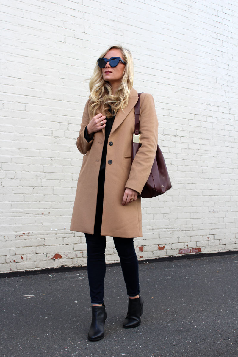 structured-camel-coat-maroon-bucket-bag-vince-camuto