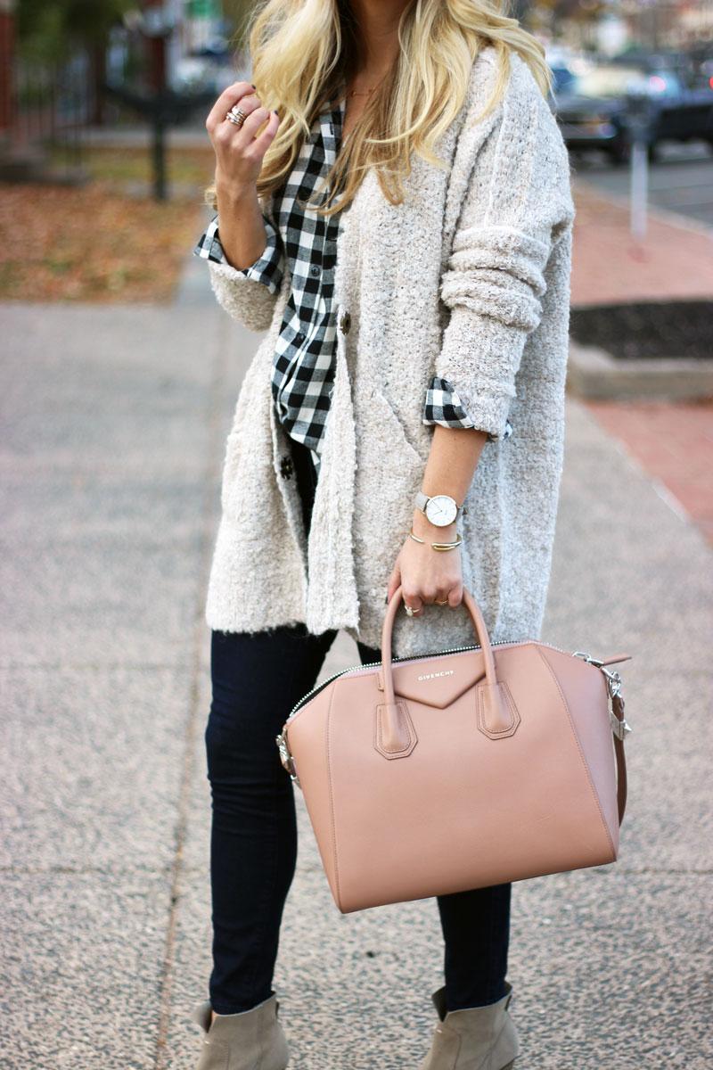 tan-cardigan-plaid-top-givenchy-antigona-bag