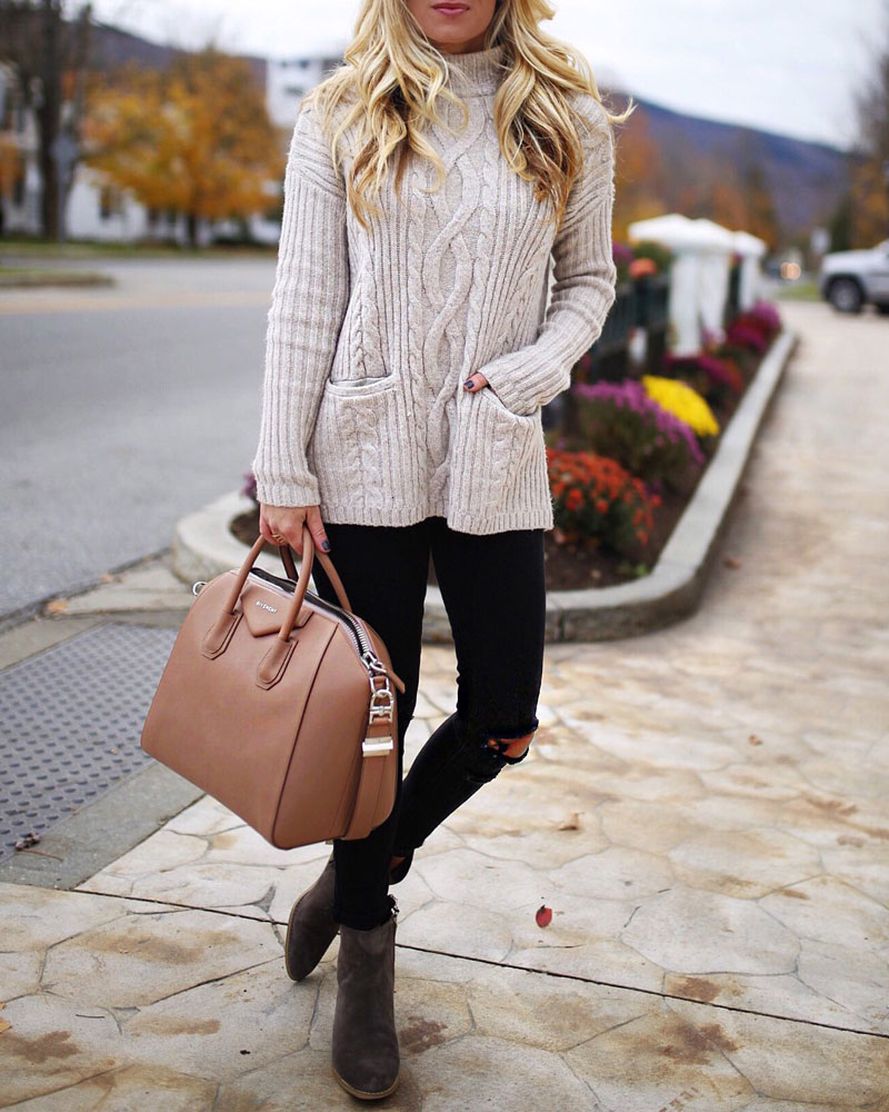turtleneck-sweater-with-pockets-tan-givenchy-bag-ripped-black-jeans-fall-outfits