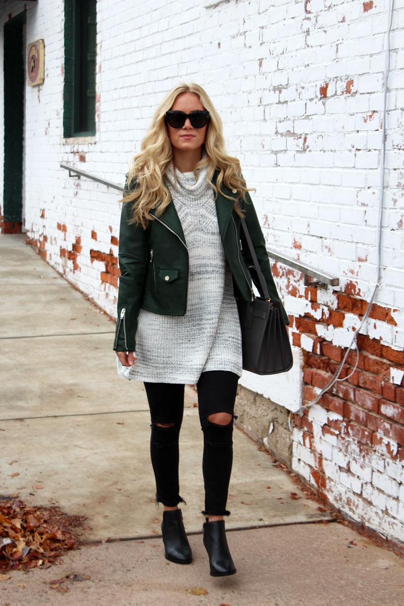 under-100-leather-jacket-nordstrom-turtleneck-sweater-ripped-black-jeans