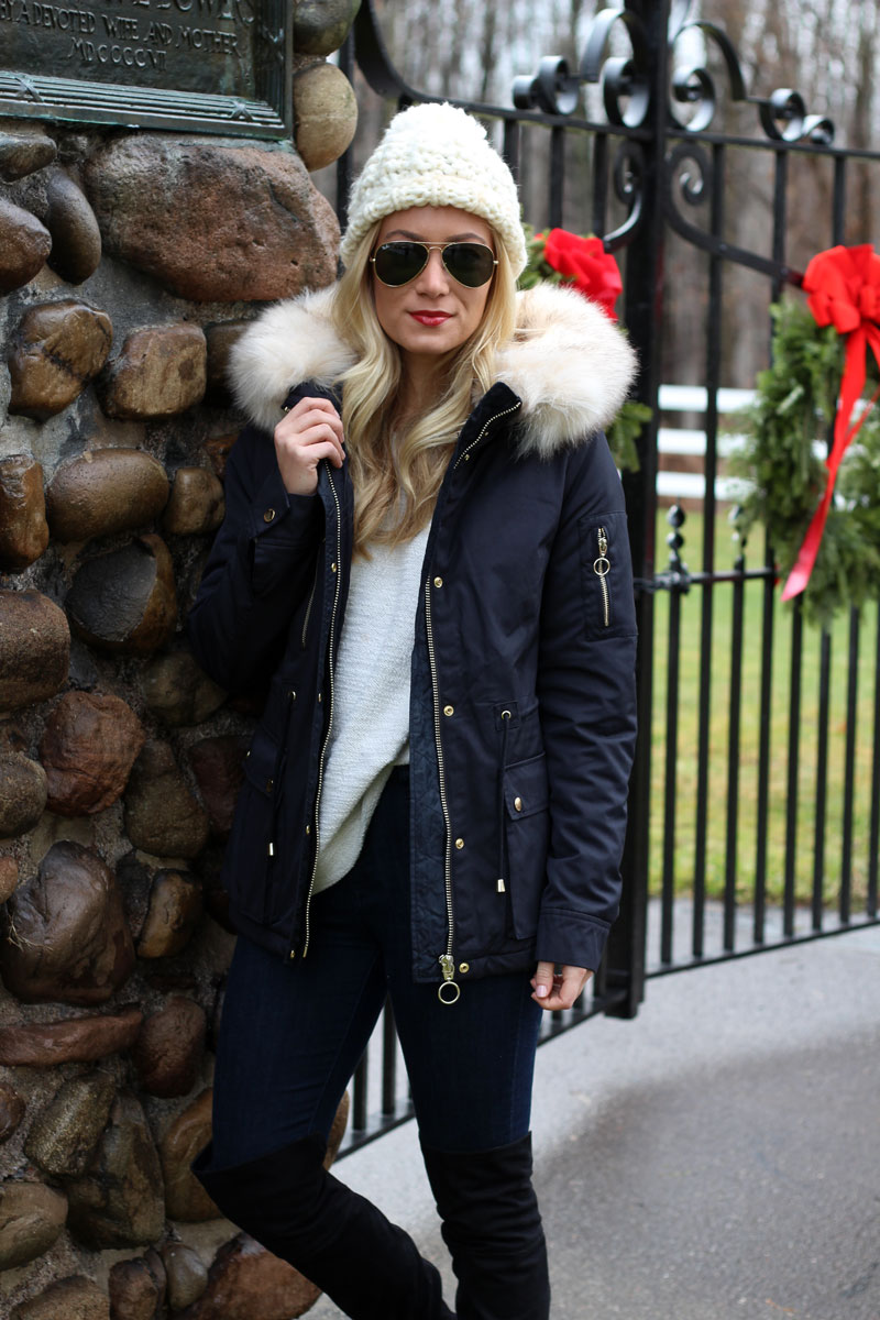 black-topshop-fur-parka-coat-nordstrom-winter-style-knit-beanie
