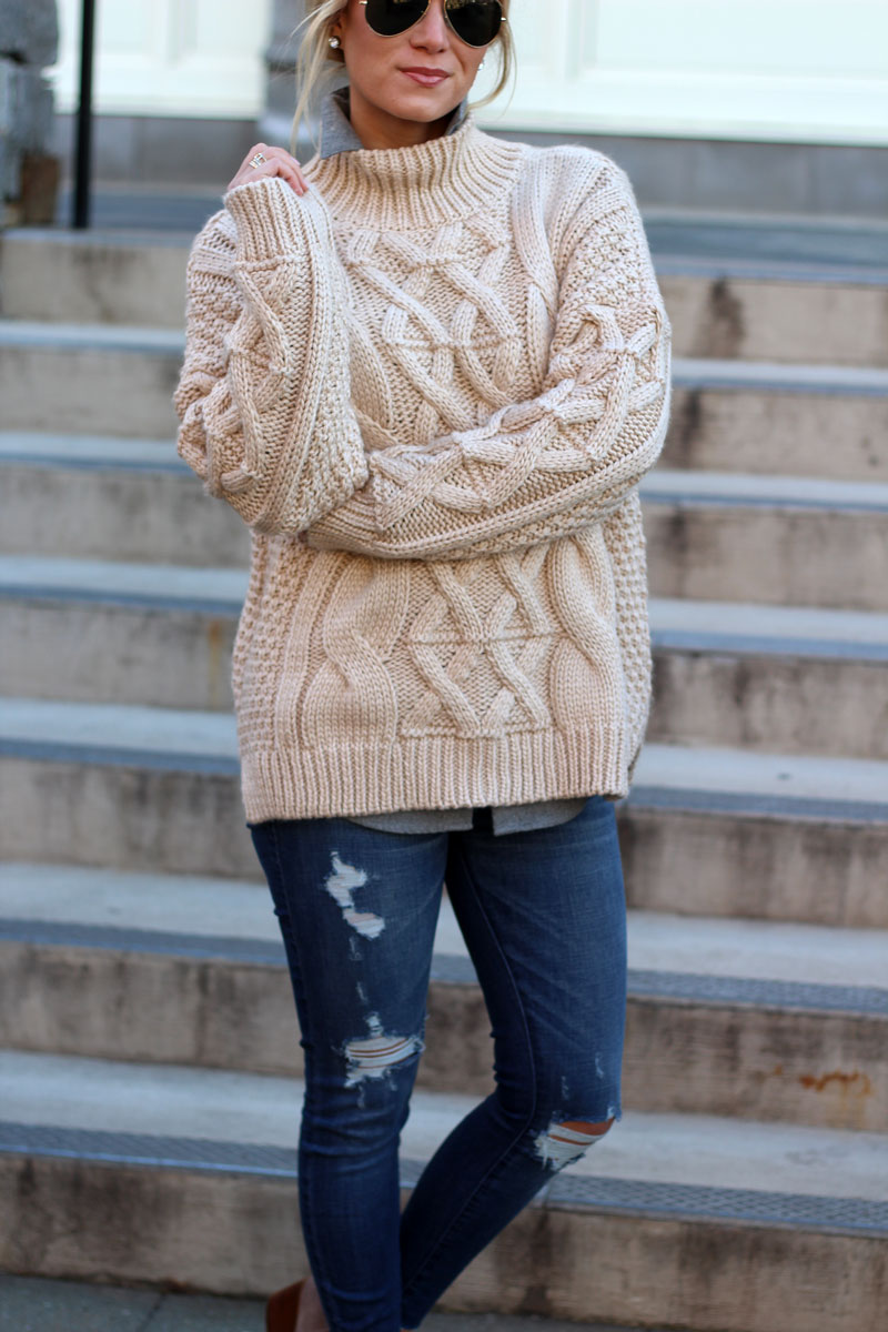 STYLE // Chunky Cableknit Turtleneck Sweater - Style CuspStyle Cusp