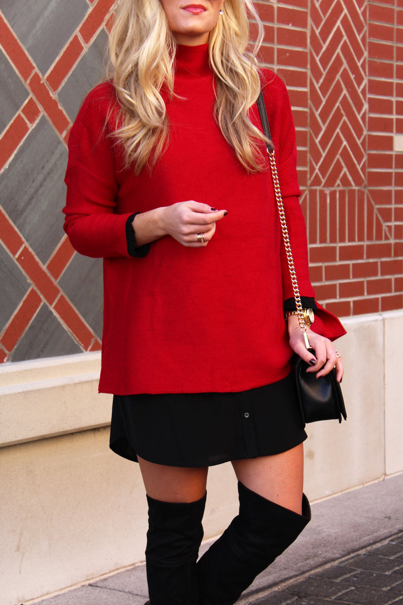 chicwish-oversized-red-sweater-holiday-outfit-over-the-knee-boots