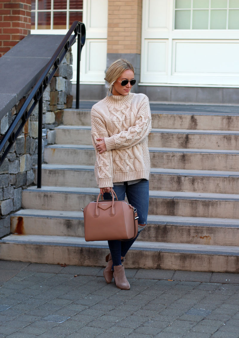 Chunky Cableknit Turtleneck Sweater Style Cusp
