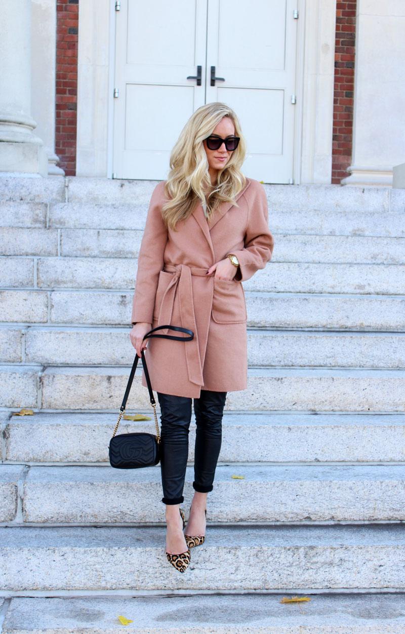 2413918d7417 Tan Wrap Coat   Gucci Bag - Style Cusp