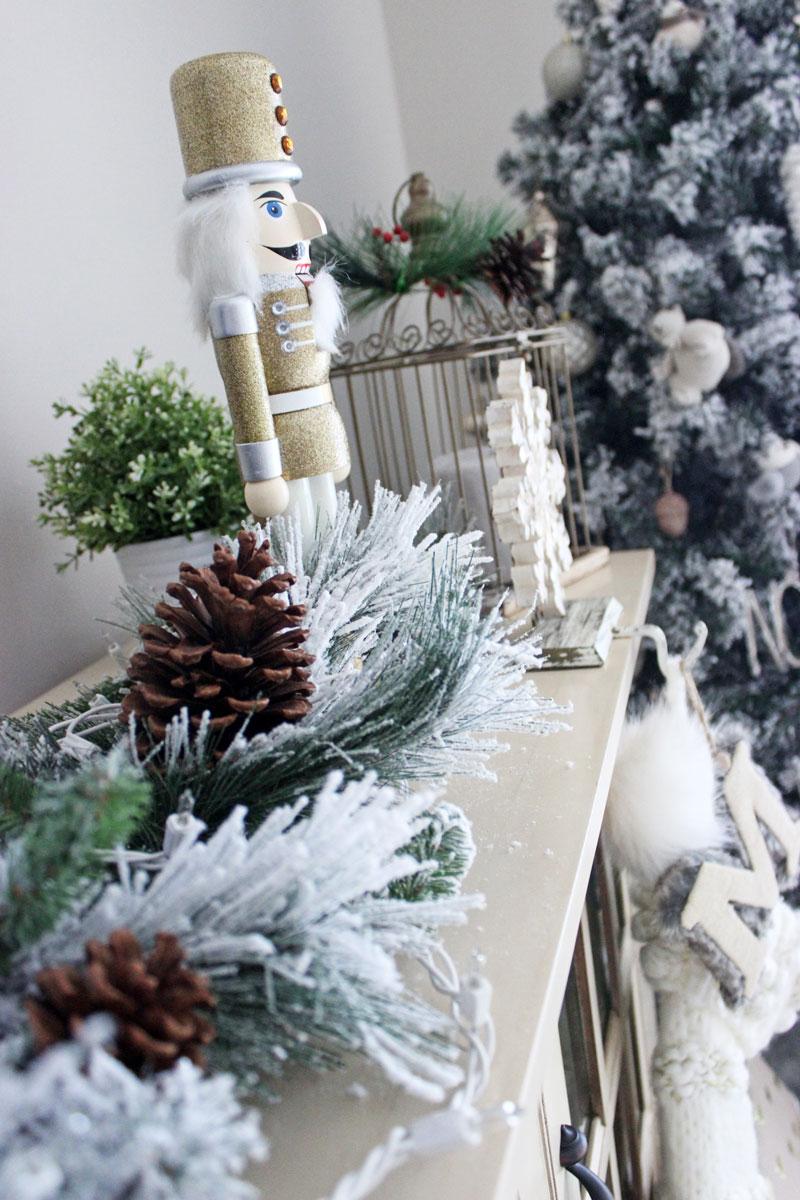 Holiday Flocked Garland Christmas Decor