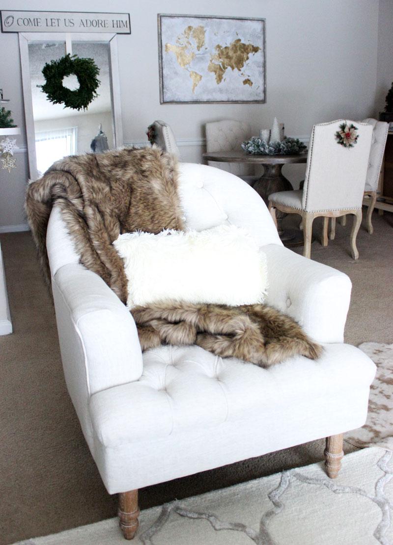 Joss And Main Tufted Accent Chair Faur Fur Throw Black