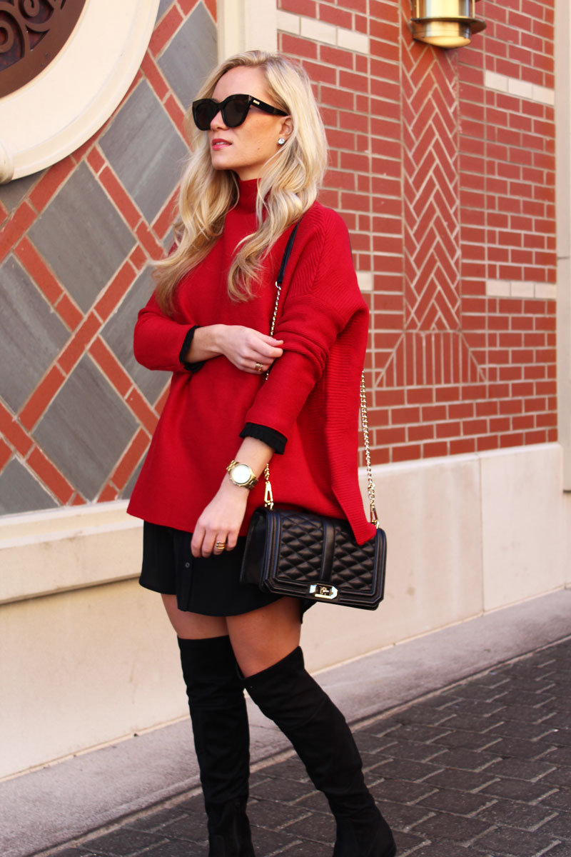 le-spec-sunglasses-oversized-red-sweater-rebcca-minkoff-love-crossbody-bag-over-the-knee-boots-christmas-outfit-blogger-style
