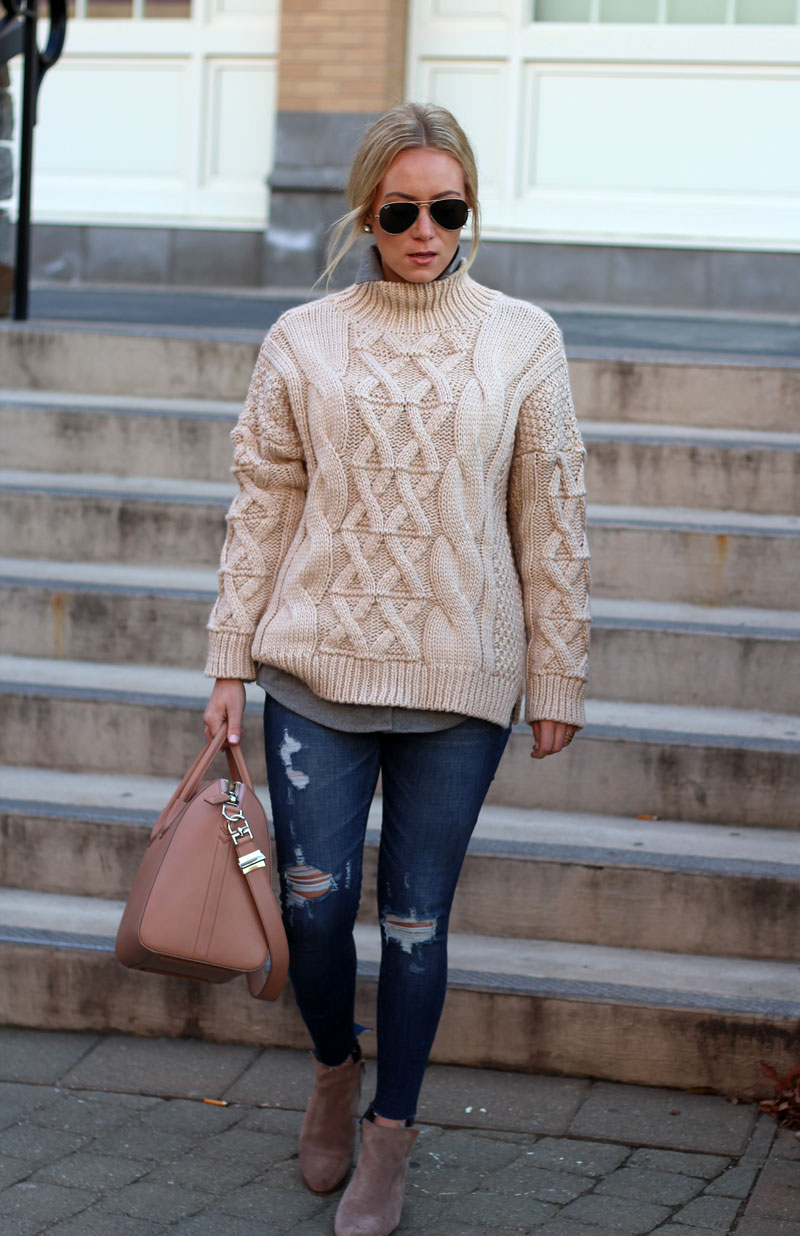 oversized-cableknit-sweater-abercrombie-jeans-sole-society-booties-ray-ban-sunglasses