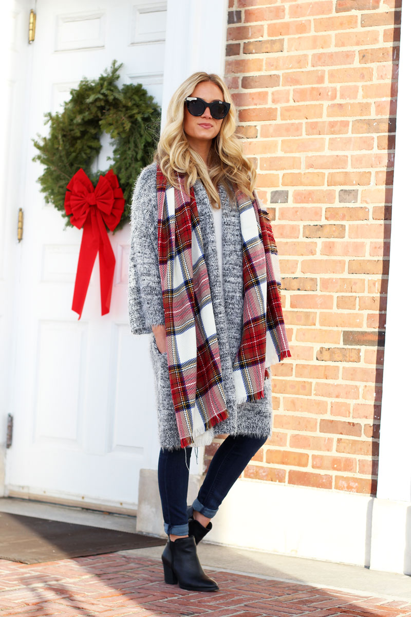 ... plaid-scarf-gray-cardigan-black-booties-nordstrom-style- ... f234465d3
