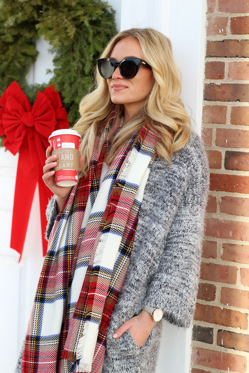 ... plaid-scarf-gray-cardigan-starbucks-holiday-cup-cluse- ... 367151f8f