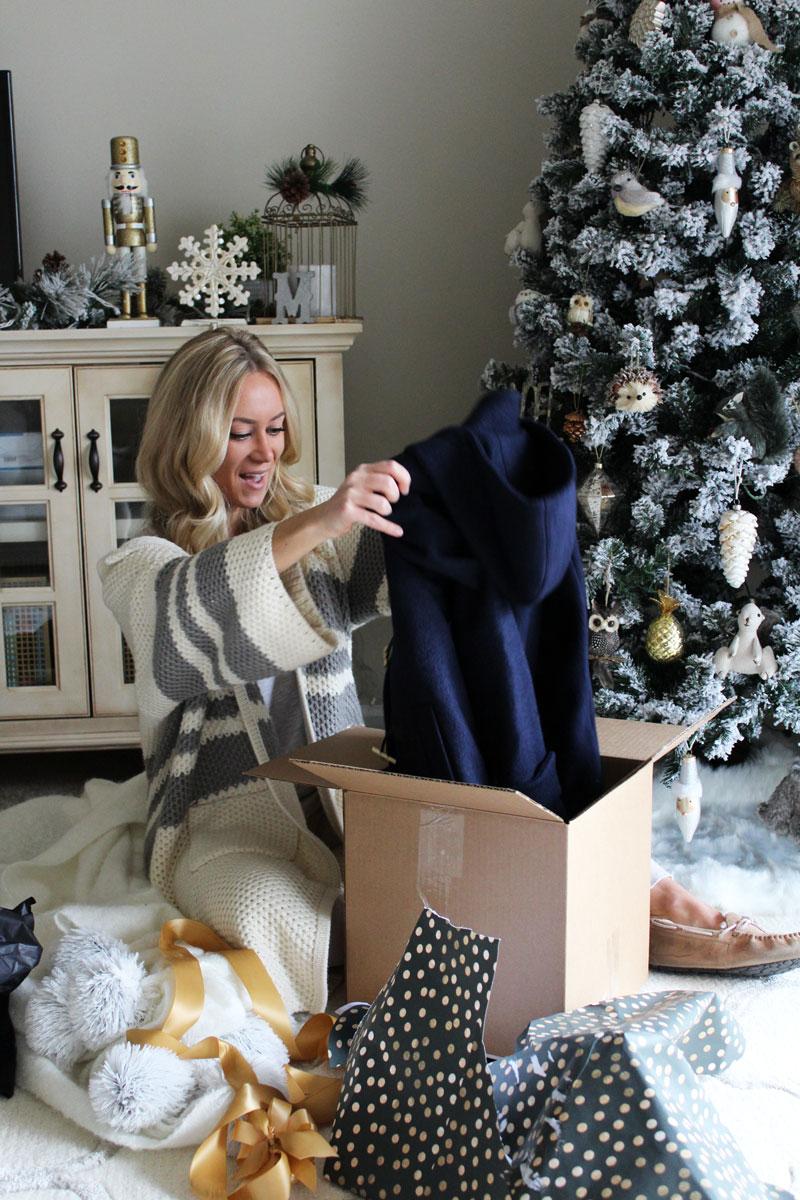 style-cusp-opening-christmas-presents-secret-santa-a-pinch-of-lovely-farmhouse-christmas-treet-decor