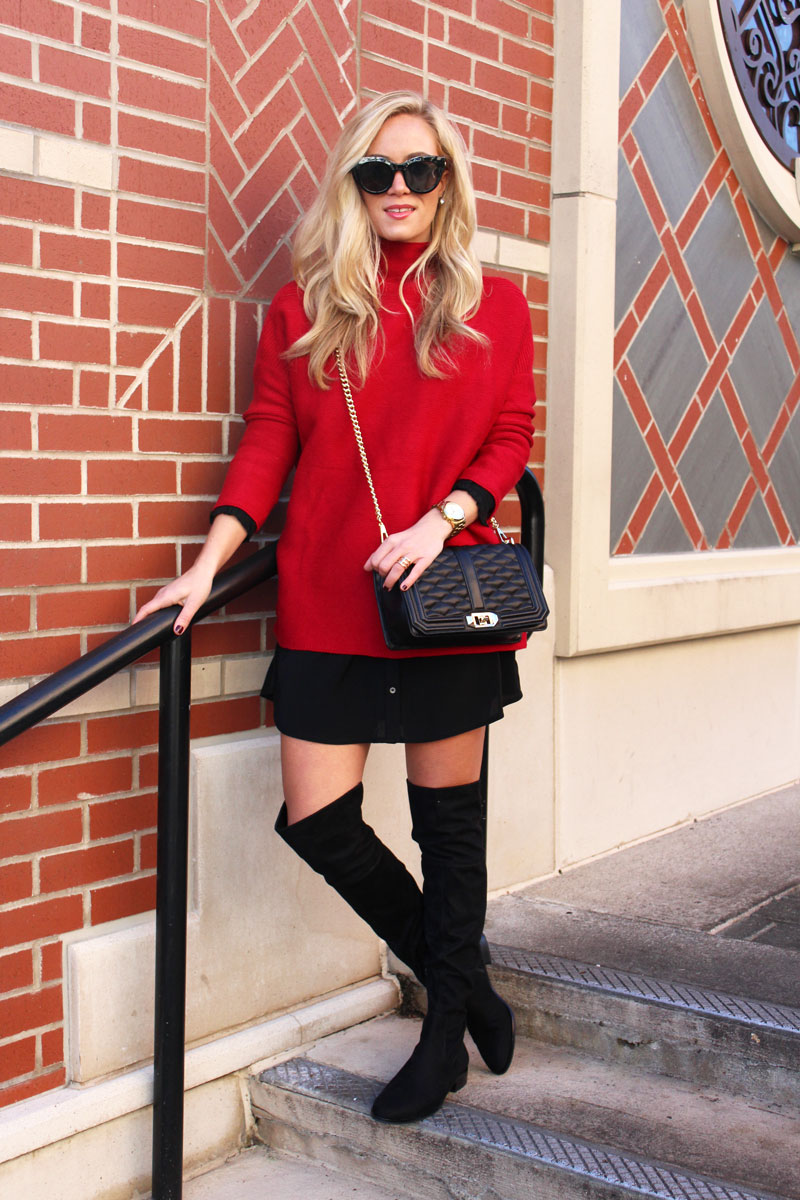 style-cusp-rebecca-minkoff-love-crossbody-bag-oversized-red-sweater-black-shirtdress-over-the-knee-boots
