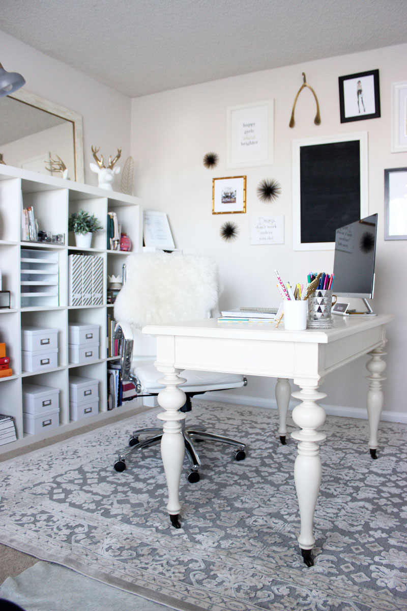 chic home office tour style cusp home office: chic home office decor