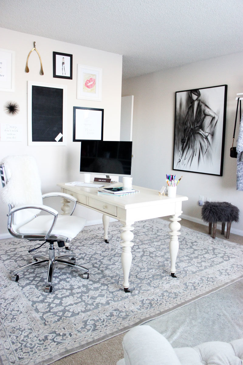 Chic-Neutral-Home-Office-Space-Black-and-White-Office-Charcoal ...