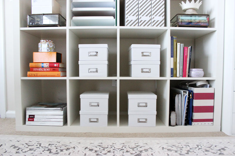 Home-Office-Shelf-Organization-Photo-Box-Shelf-Storage-How-to-Organize-the-Office