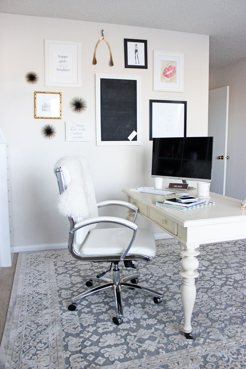 Style-Cusp-Home-Office-Blogger-Gallery-Wall-Chic-Office-Space-Havenly-Interior-Design