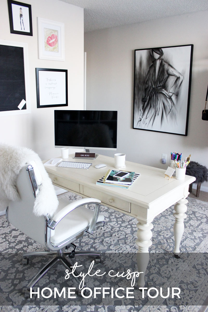 neutral office decor. stylecusphomeofficetourhavenlydecordesign neutral office decor
