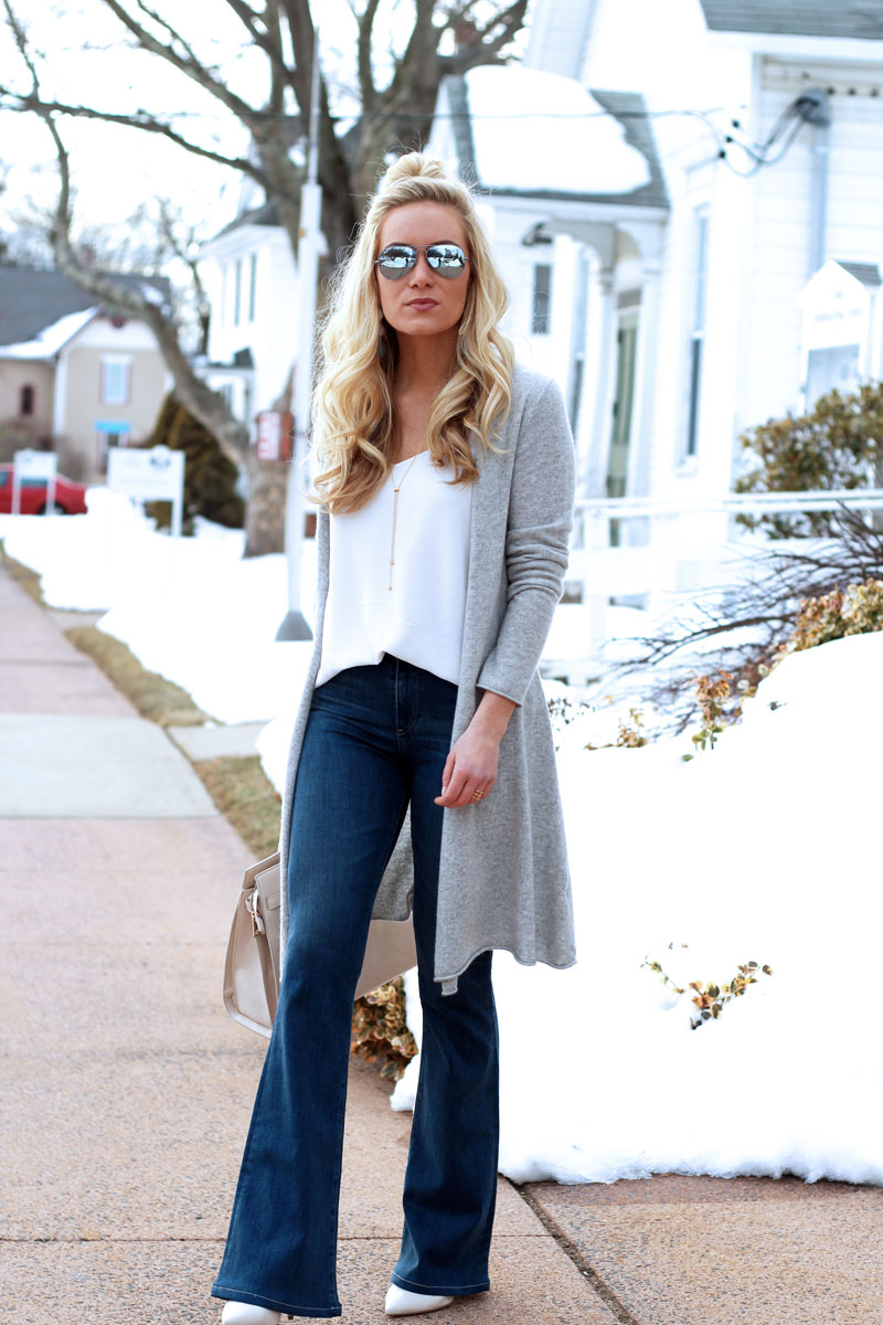 Gray-Duster-Cardigan-with-Flare-Jeans-White-Tank