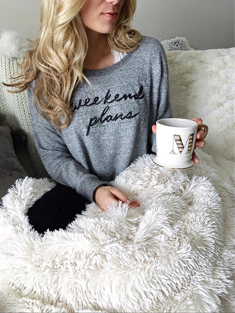 Weekend Plans Sweatshirt Monogram Anthropologie Mug