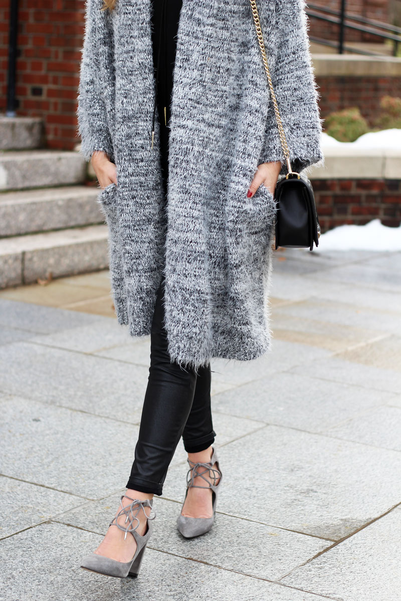 Leather-Leggings-with-Gray-Cardigan