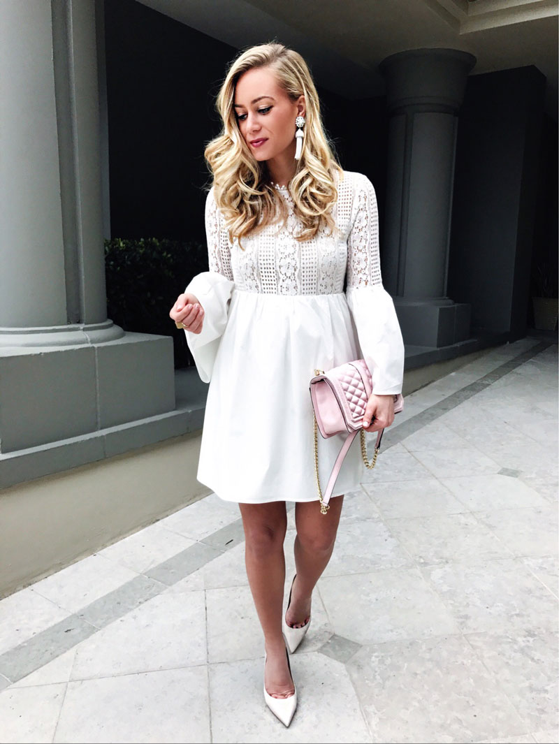 White-Lace-Dress-with-Bell-Sleeves