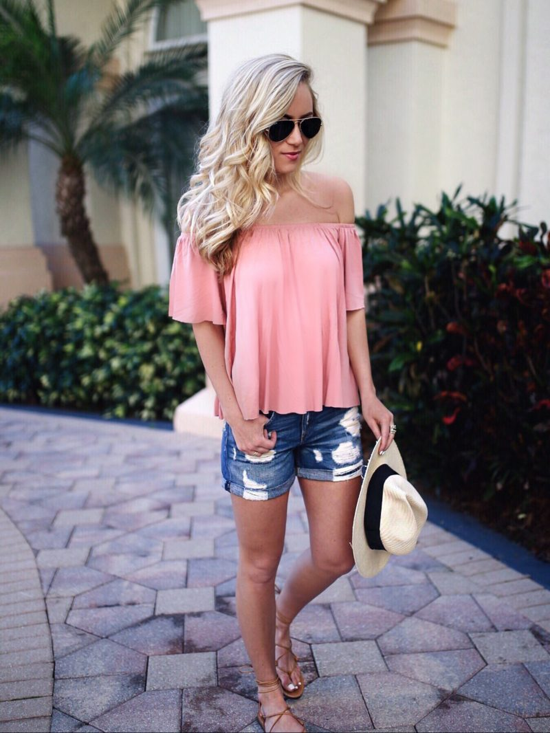 Blush Off Shoulder Top