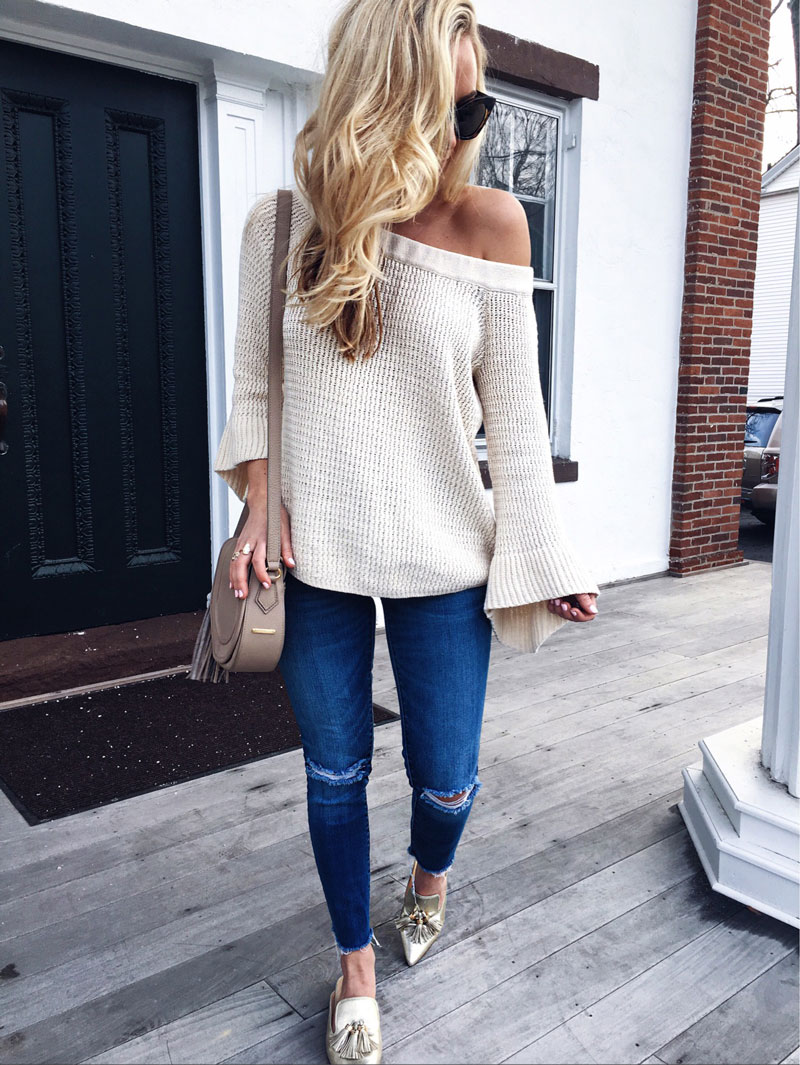 Off-Shoulder-Knit-Sweater