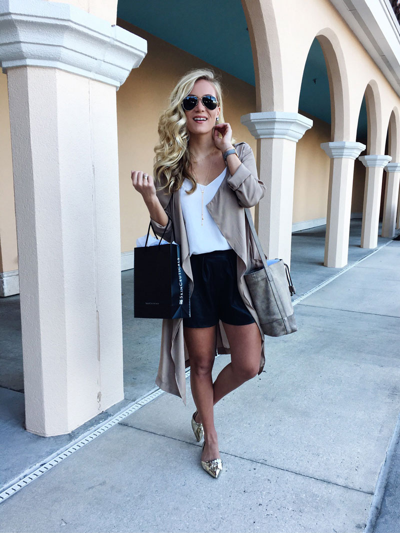 Tan-Duster-Jacket-Leather-Shorts