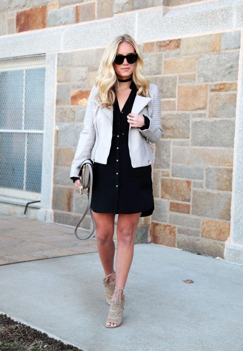Black-Shirtdress-Faux-Leather-Jacket