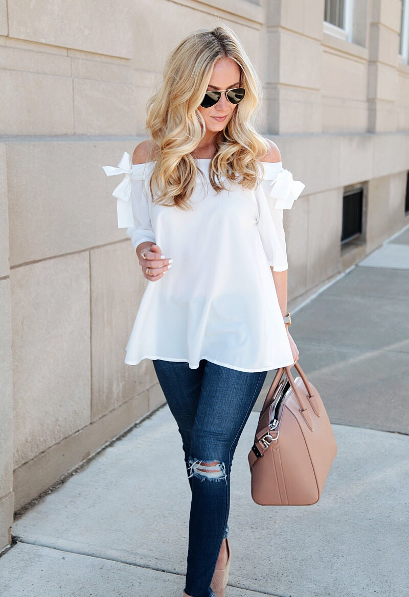 Off Shoulder Top Givenchy Bag