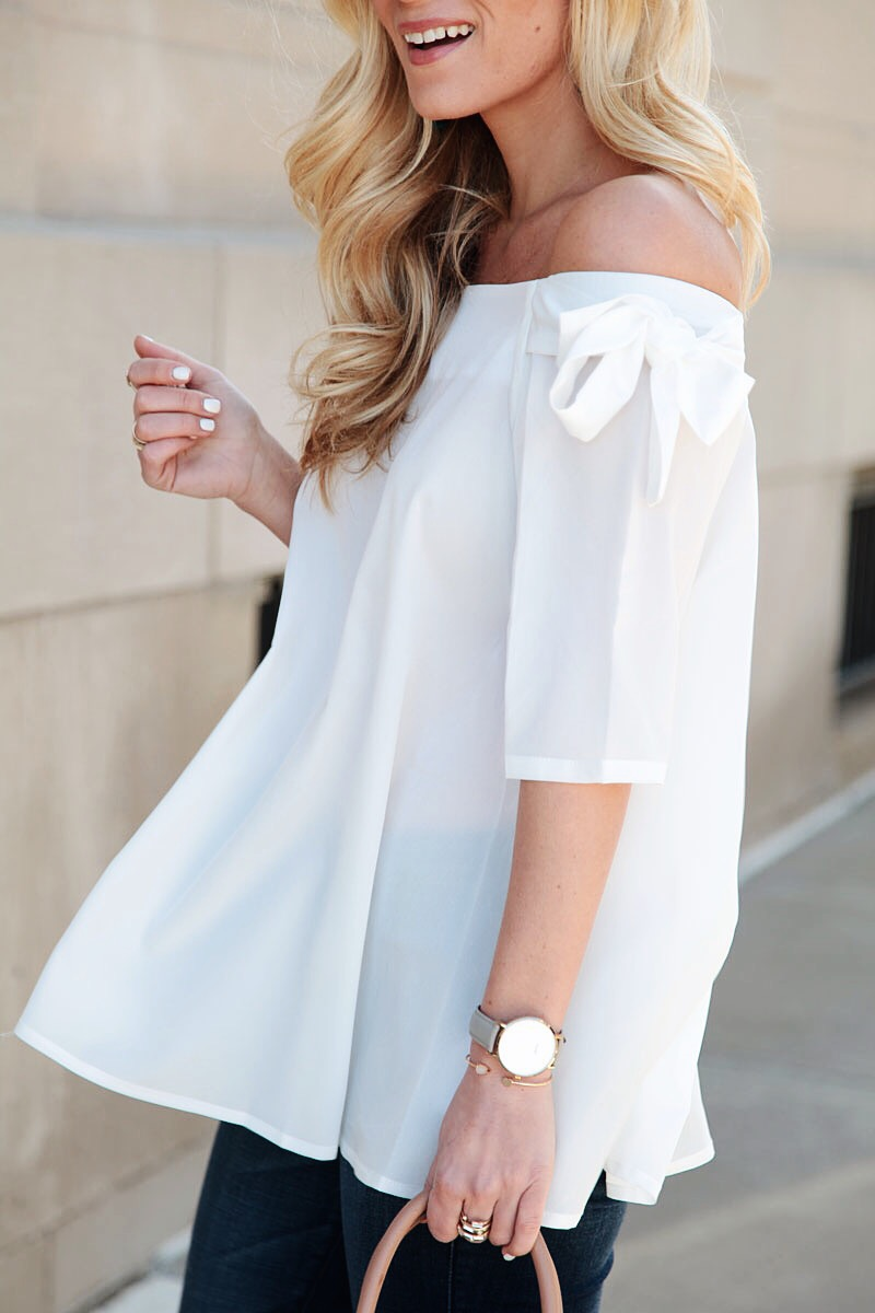 Flowy White Top