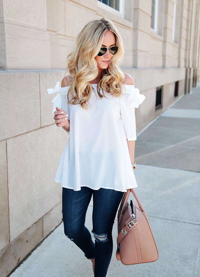 White Top with Denim