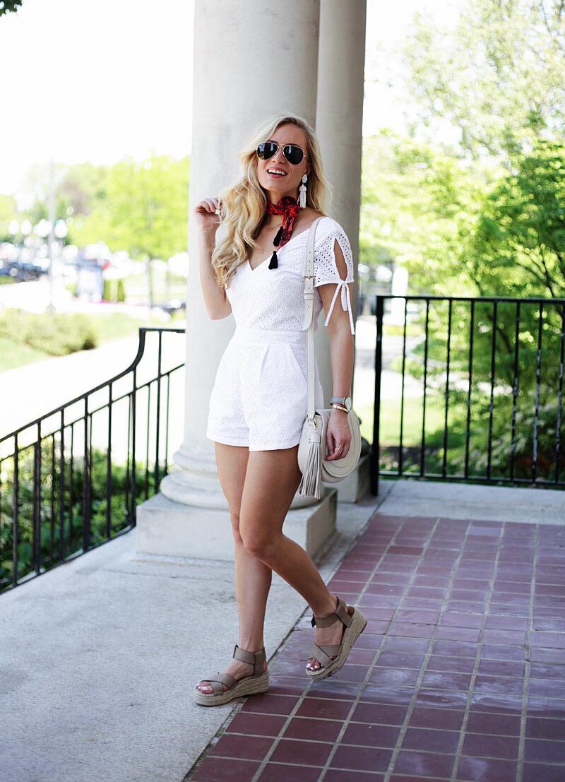 Summer White Romper