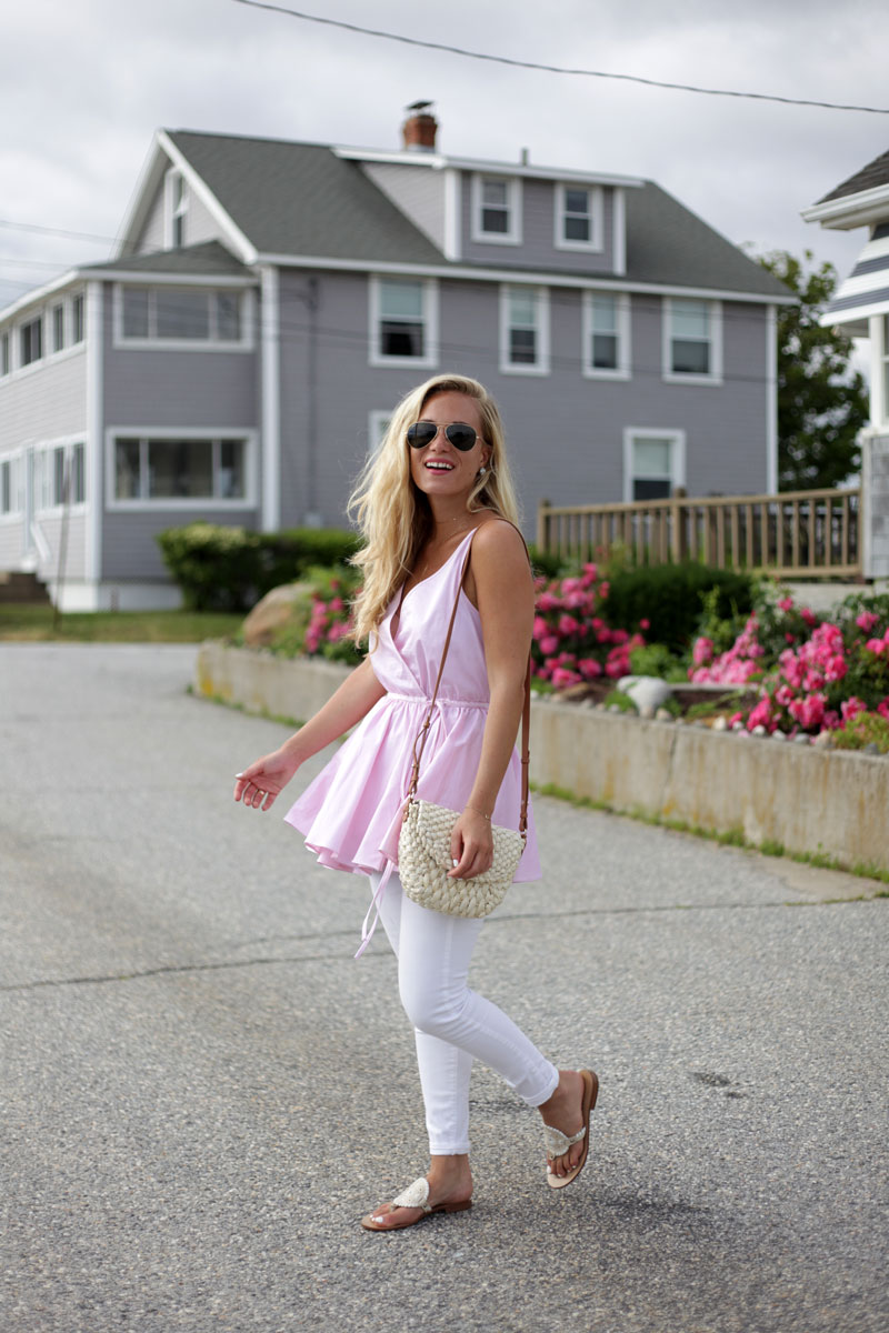 Blush-Peplum-Top-White-Denim