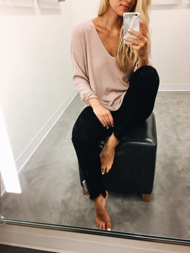 Draped VNeck sweater