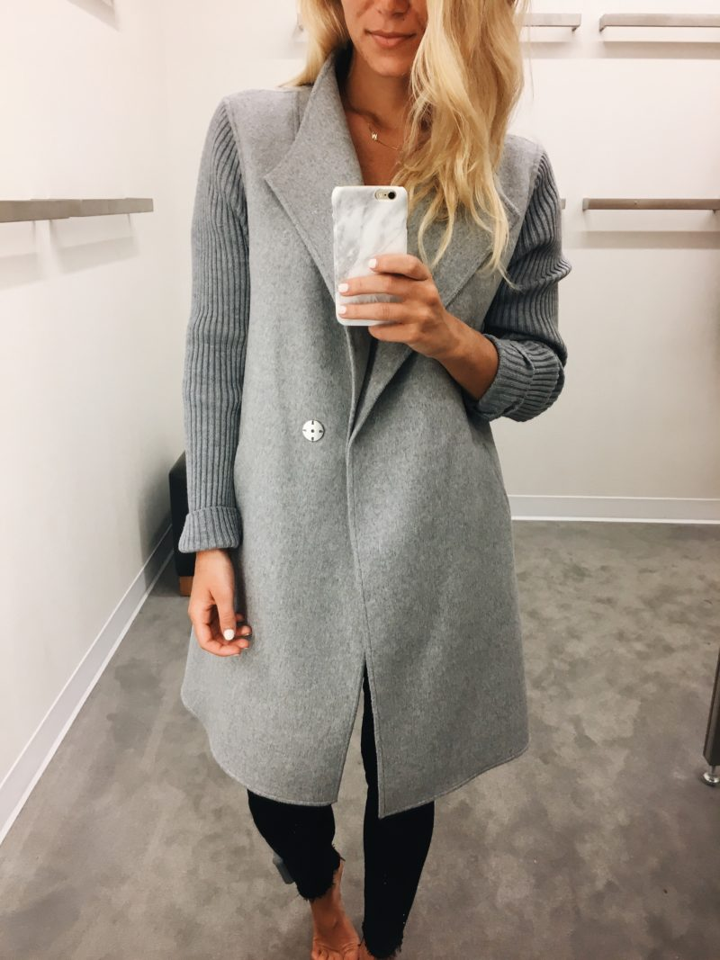 Gray Draped Jacket