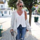 Knit Cardigan + Boyfriend Jeans