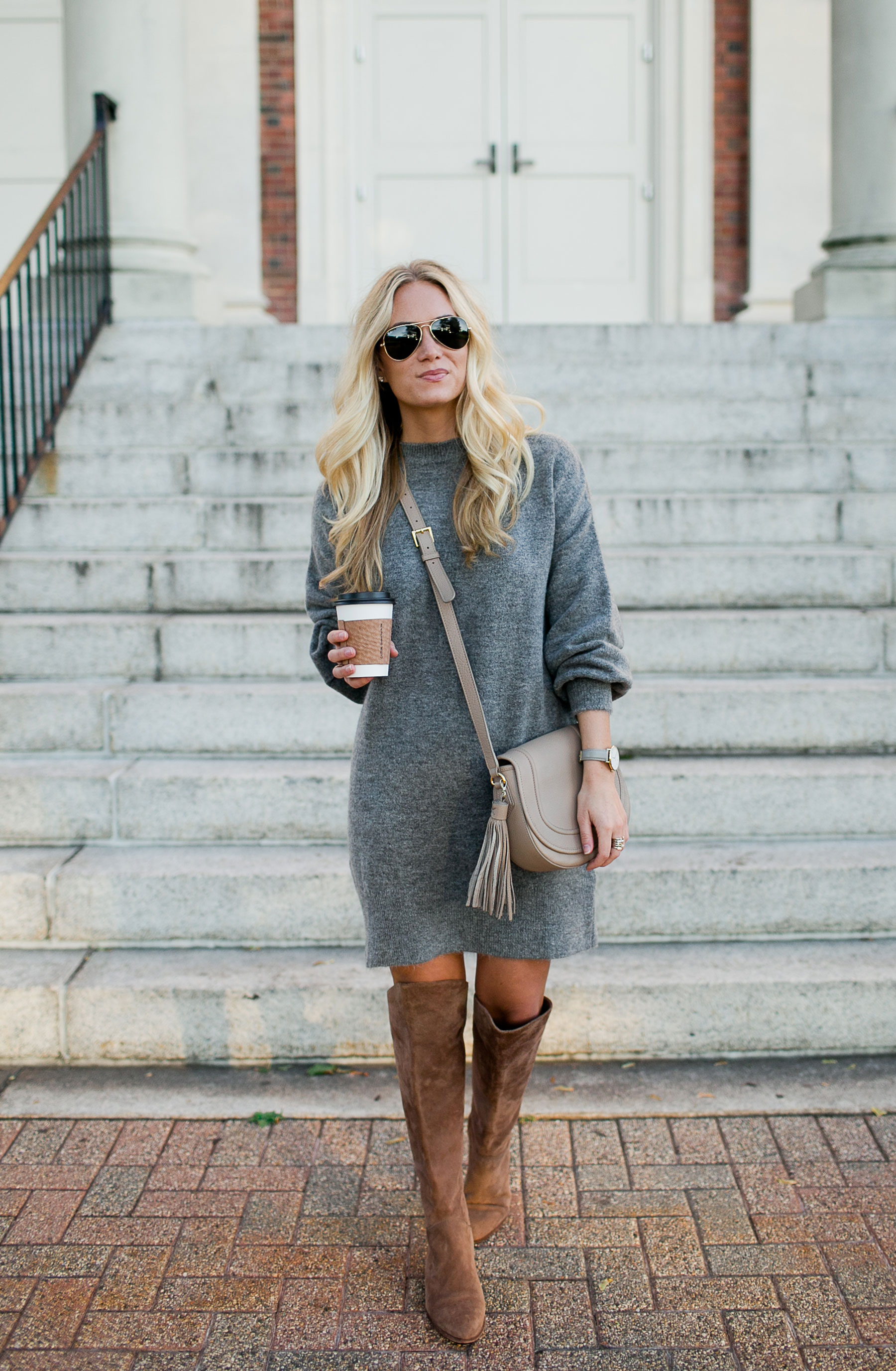 Brown Boots with Sweater Dresses