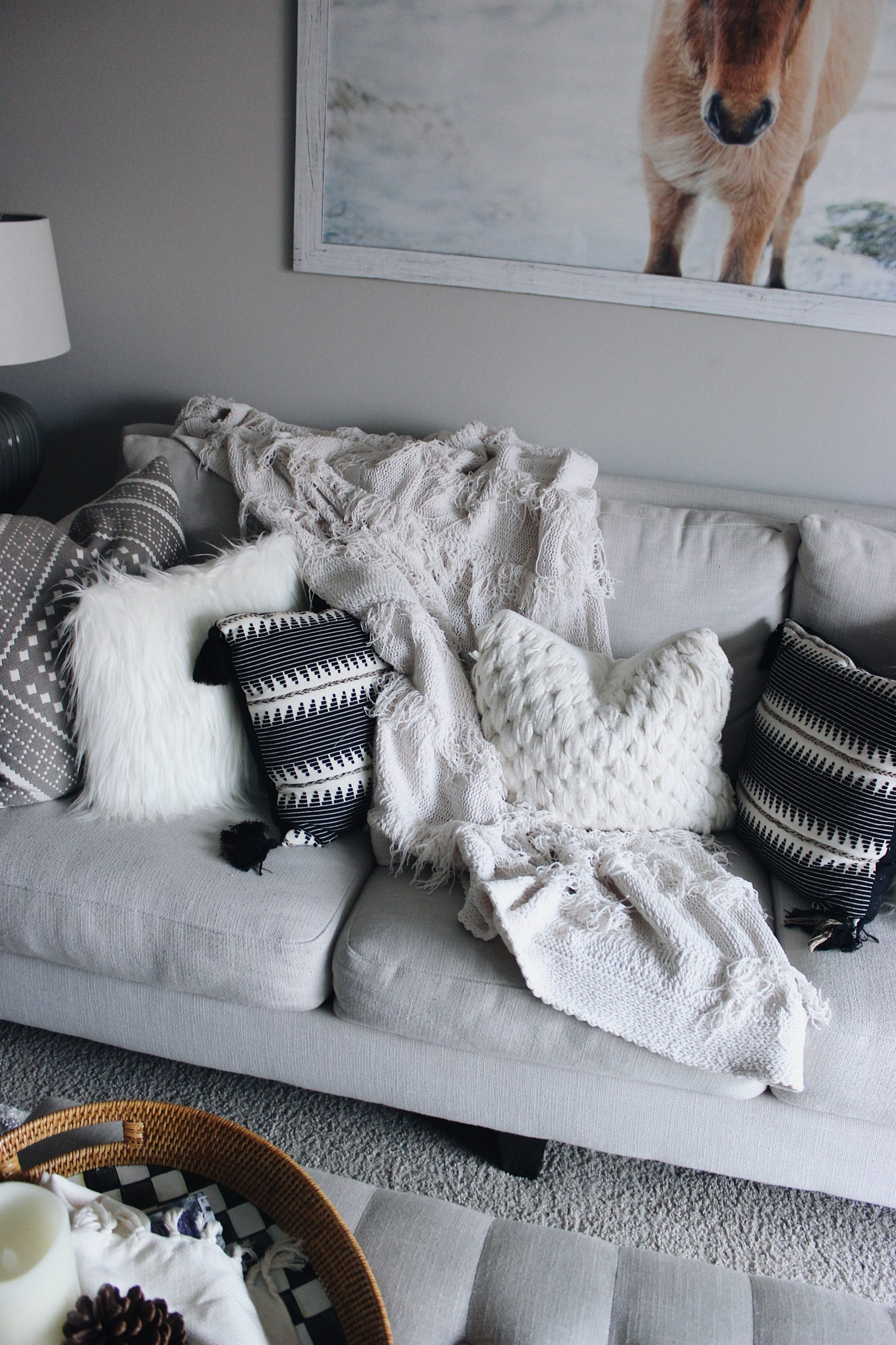 Cozy Neutral Couch Pillows