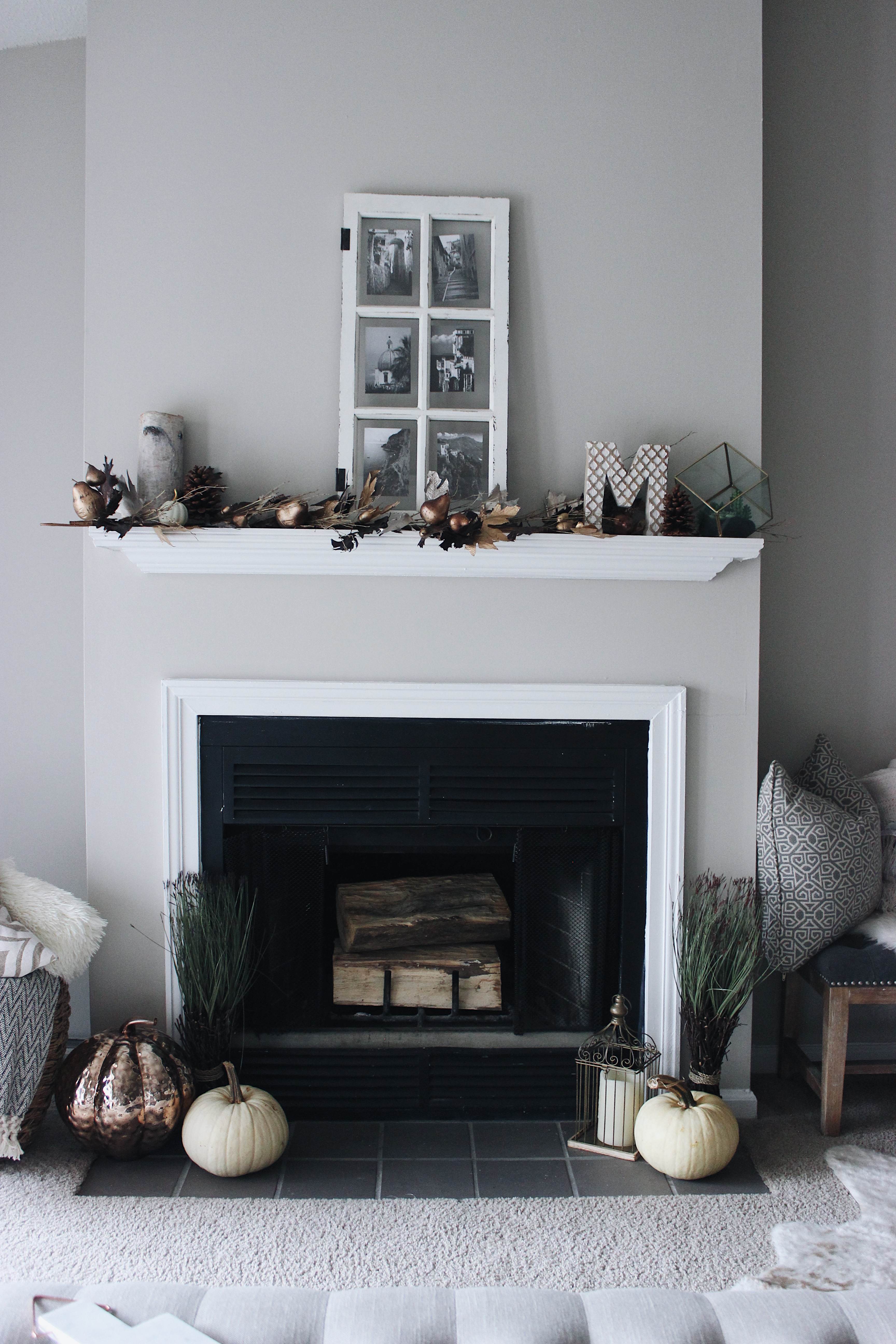 Mantle Styling Rustic Mantel