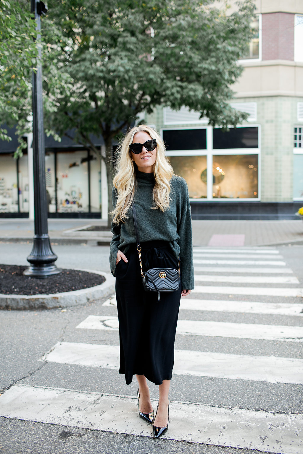 Holiday Style Green Sweater Gucci