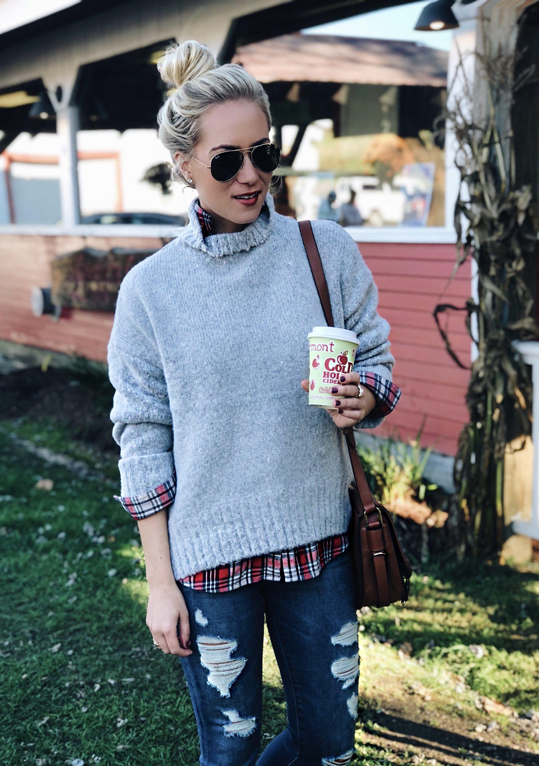 Fall Grey Sweater