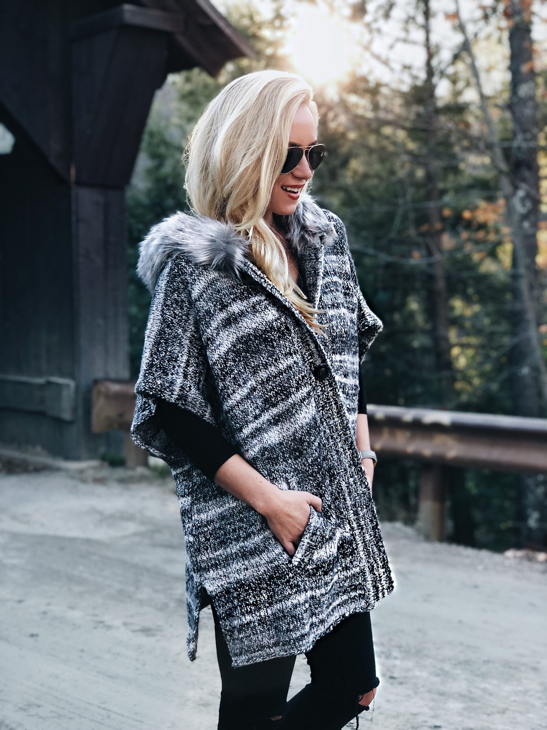 Fur-lined Sweater