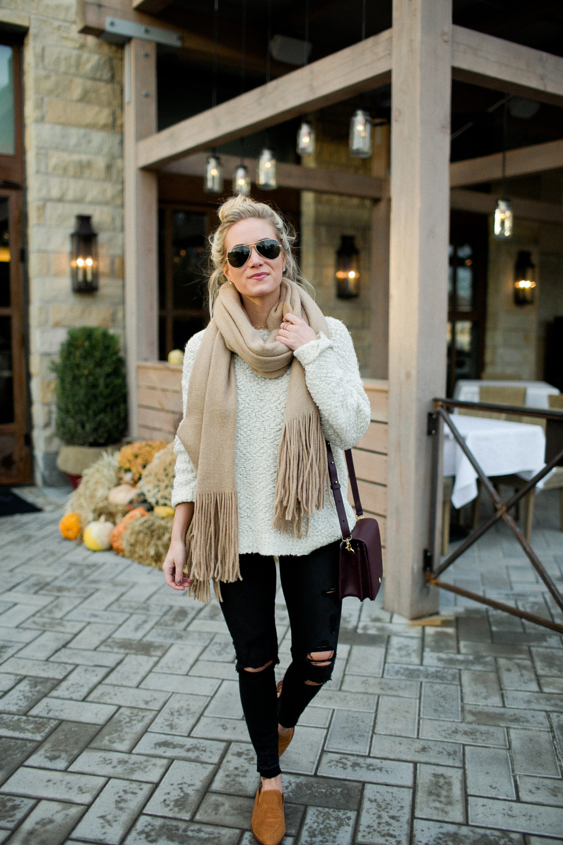 Fall Neutral Style Black Denim
